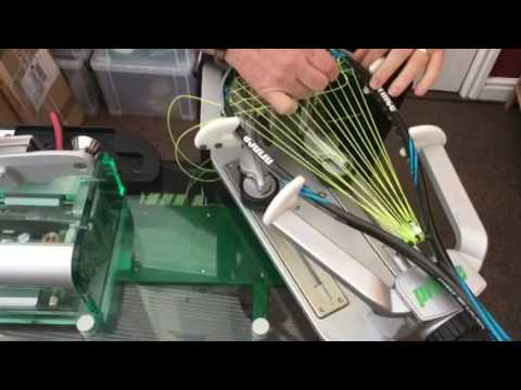 Prince Pro Beast and Pro Shark squash stringing guidance.