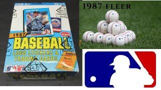 1987 Fleer Baseball Bbce Sealed Hobby Box Break