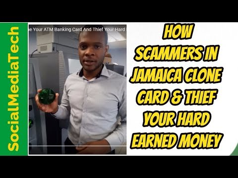 How Scammers in Jamaica Clone Your ATM Banking Card And Thief Your Hard Earned Money
