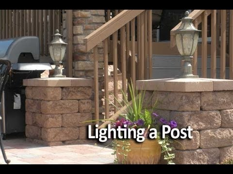 How to Add Lighting to a Courtyard Post