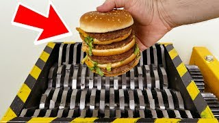 SHREDDING WORLDS BIGGEST HAMBURGER!!! - EXPERIMENT AT HOME