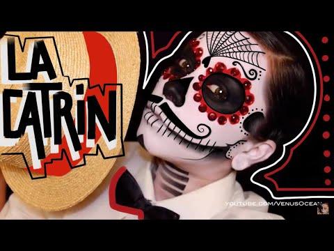 The Catrin Men's Dia de los muertos (day of the dead) face paint tutorial