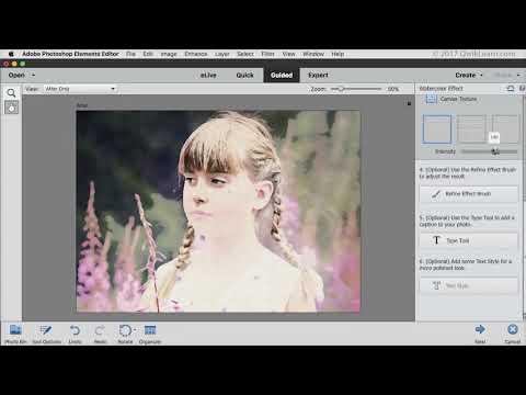 Photoshop Elements 2018 Watercolor Effect