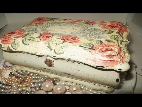 DIY Decoupage Jewelry Box Annie Sloan Upcycle