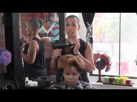 How to Blow Dry & Flat Iron a Black Girl's Hair : Hair Care & Styling Tips