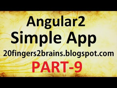 Angular 2 - Creating a simple app