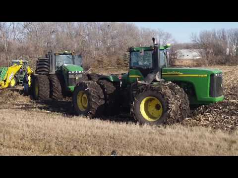 Crary Tile Plow with 2 John Deere 4WDs
