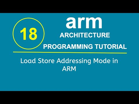 ARM Programming Tutorial 18- Load Store Addressing Mode in ARM