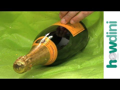 How to gift wrap a champagne bottle