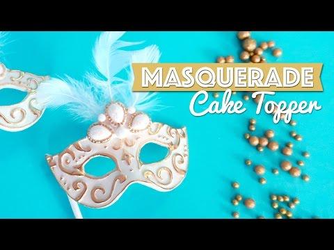 Masquerade Cake Topper