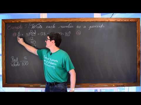 Introduction to Percents 8 Ex Convert between Decimal & Percent and Word Problems