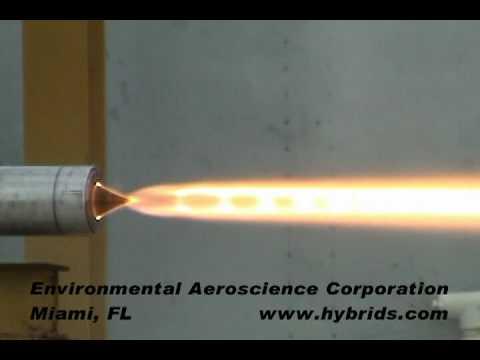 Environmental Aeroscience - Aerospike Nozzle Solid Rocket Motor Static Firing