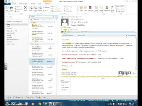 Outlook How to search for an email or attachment