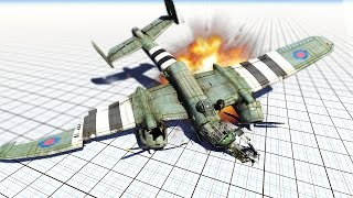 INSANE PLANE CRASHES! (BeamNG Drive Funny Moments #7)
