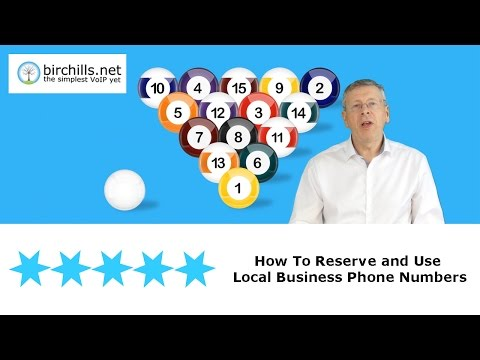 How to Choose, Reserve and Use Local Phone Numbers