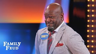Emmitt Smith & Todd Gurley in the END ZONE! | Celebrity Family Feud