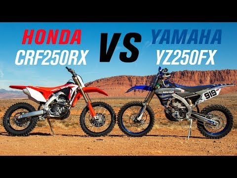 2019 Honda CRF250RX vs Yamaha YZ250FX
