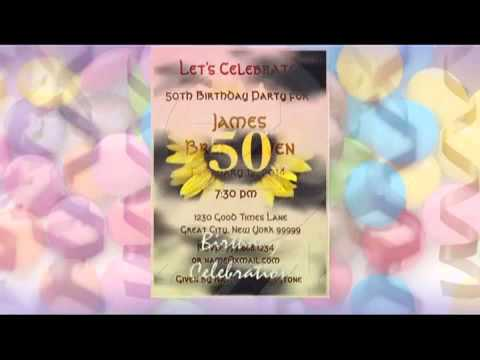 50th Birthday Invitations!  See more at www.squidoo.com/50th-birthday