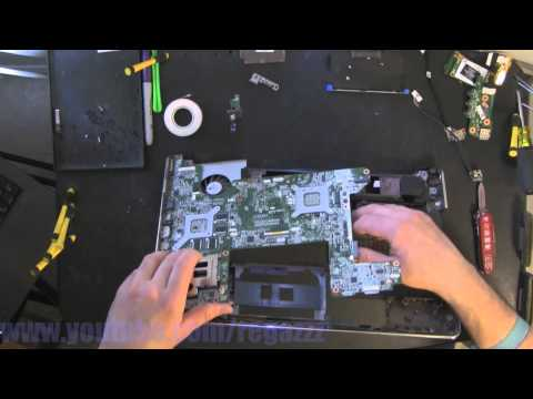 HP HDX16  take apart, disassembly, how-to video (nothing left)