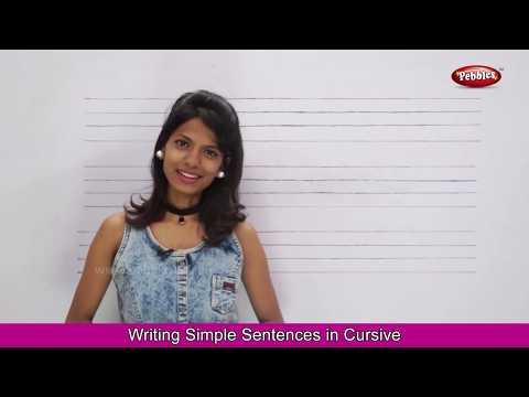 Writing Simple Sentences For Children Part 1   Cursive Writing Practice   Basic English Sentences