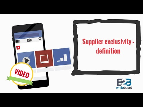 Supplier exclusivity - definition