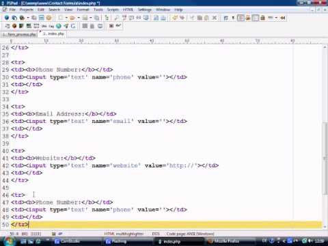 HTML & PHP Tutorial - Building a working Contact Form Part 1
