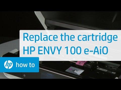 Replacing a Cartridge - HP ENVY 100 e-All-in-One Printer (D410a)