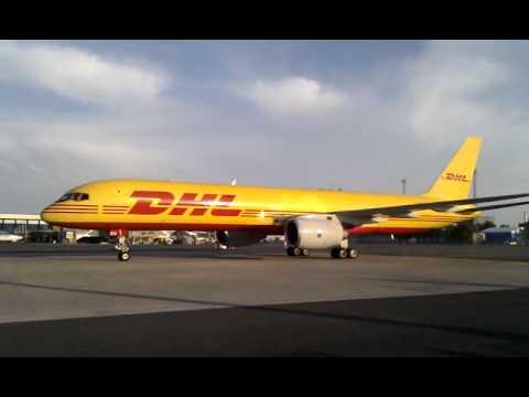 DHL B752 at TLL