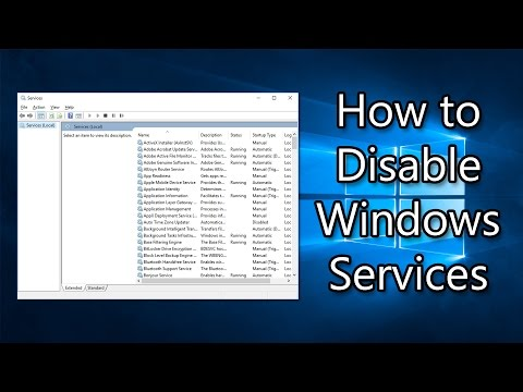 How to Disable Windows Services