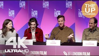 Call Me By Your Name press conference with Armie Hammer, Timothee Chalamet, Luca Guadagnino