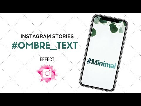 Ombre Text Effect on Instagram Stories| Fade Color Text| Insta Hacks 2018