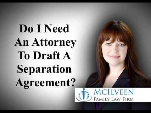 Do I Need An Attorney To Draft A Separation Agreement in North Carolina?