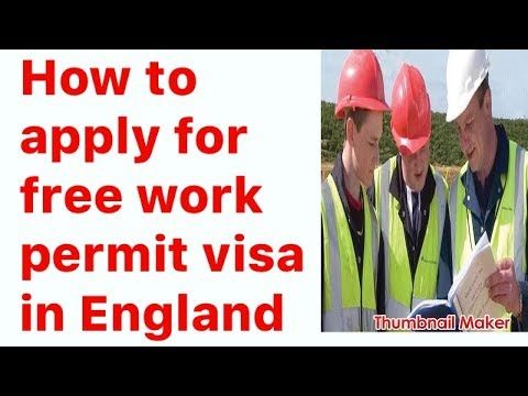How to apply for work permit visa in England