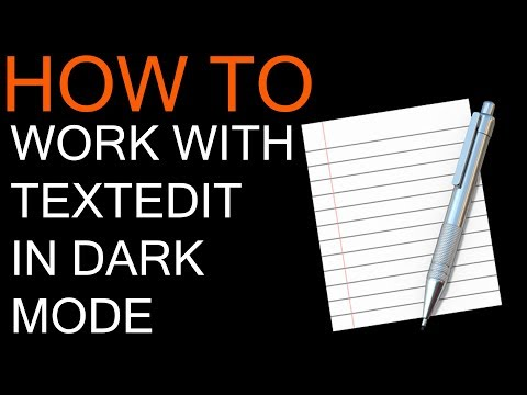 How to Use TextEdit in Dark Mode
