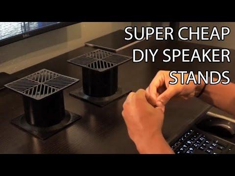 How to Make DIY Desktop Speaker Stands for Under $30