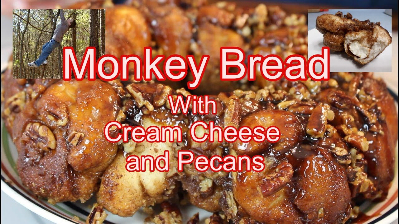 Monkey Bread  or Gorilla Bread with Cream Cheese and Pecans