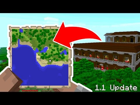 HOW to FIND WOODLAND MANSIONS in MINECRAFT POCKET EDITION 1.1 UPDATE (MCPE 1.1 Update)