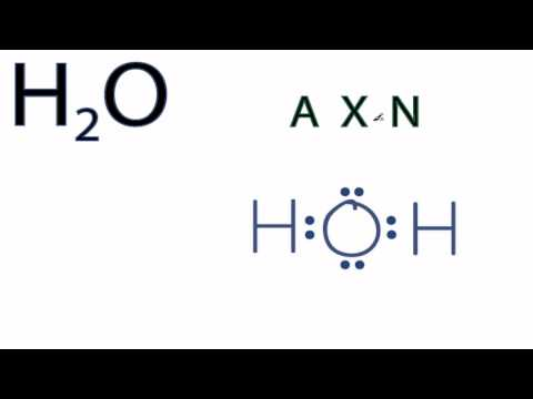 H2O Molecular Geometry / Shape and Bond Angle (precise angle is 104.45)