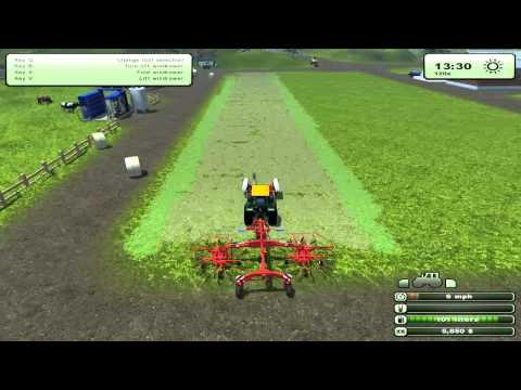 Farming Simulator 2013 - Hay, Tedders, & Windrowers
