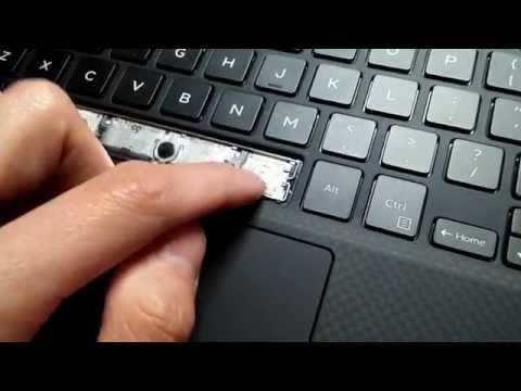 Dell XPS 13 & Other Laptops - Fix Space Bar key sticky resistance tight defect problem DIY keyboard