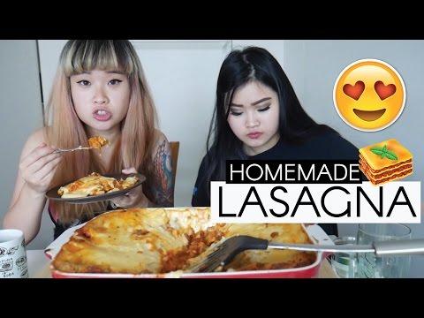 HOMEMADE LASAGNA | MUKBANG | EATING SHOW