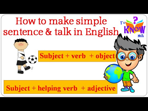 English Grammar Guide - How to make sentence and start talking in English (for kids)