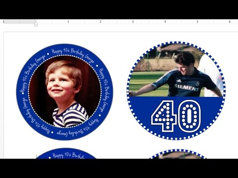 How to make cupcake toppers and circular tags with picture with MS Word