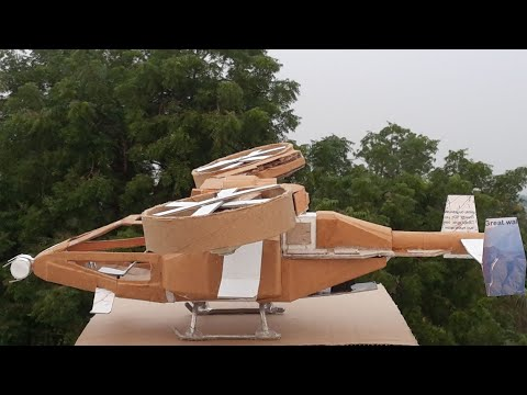 How to make a Helicopter using Cardboard | A-99 Scorpion