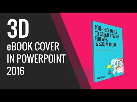 How to create 3D e-book cover in PowerPoint 2016