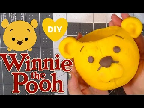 HOW TO MAKE WINNIE THE POOH BRUSH / PEN HOLDER TUTORIAL  | CLAY CRAFT  DIY | Cup n Cakes Gourmet