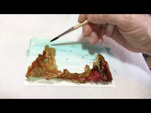 How to Create Cliffs and Rocks with Alcohol Ink