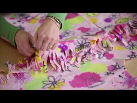 Learn with JOANN How to Make a No-Sew Fleece Robe