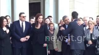 Ο Κυριάκος Μητσοτάκης στην κηδεία του πατέρα του