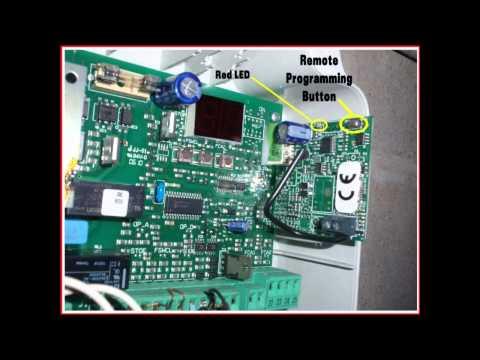 Programming a FAAC 787542 gate remote